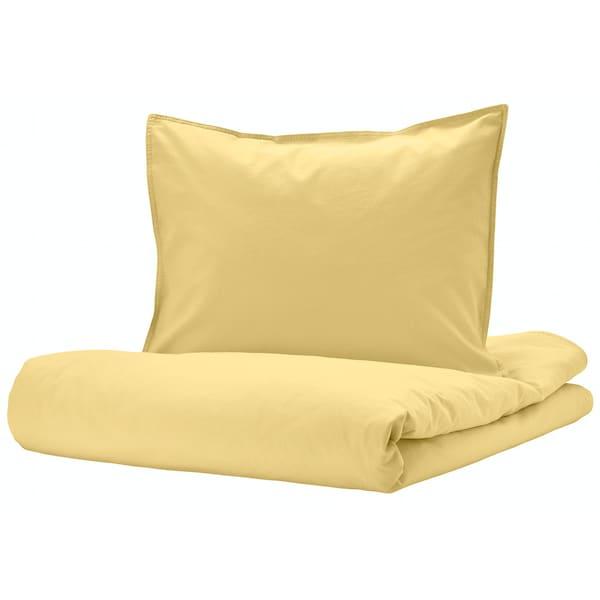 bilde av anslija sengesett, gult.