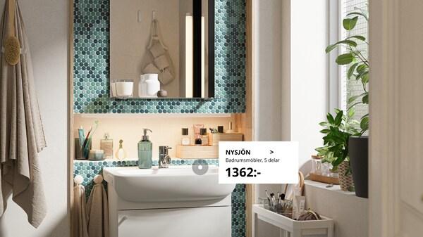Bildgalleri med badrumsidéer.