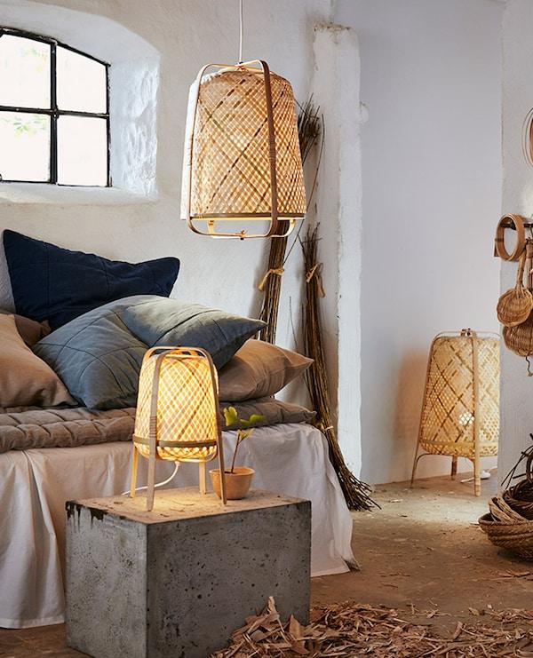 billeder af stald med udlånte lamper