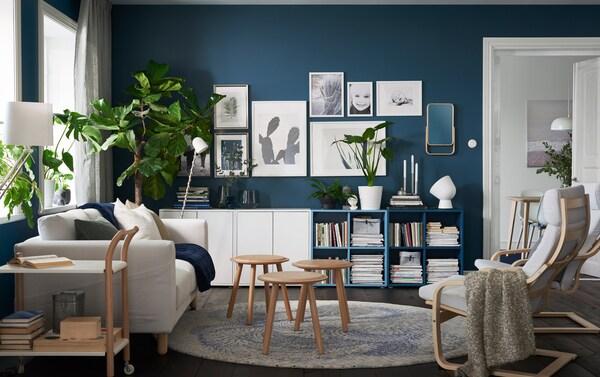 Inspirasjon til oppbevaring for stue - IKEA