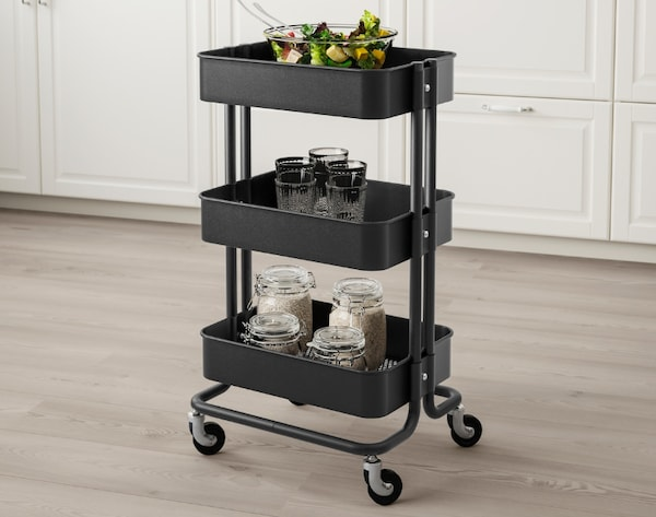 Black kitchen trolley