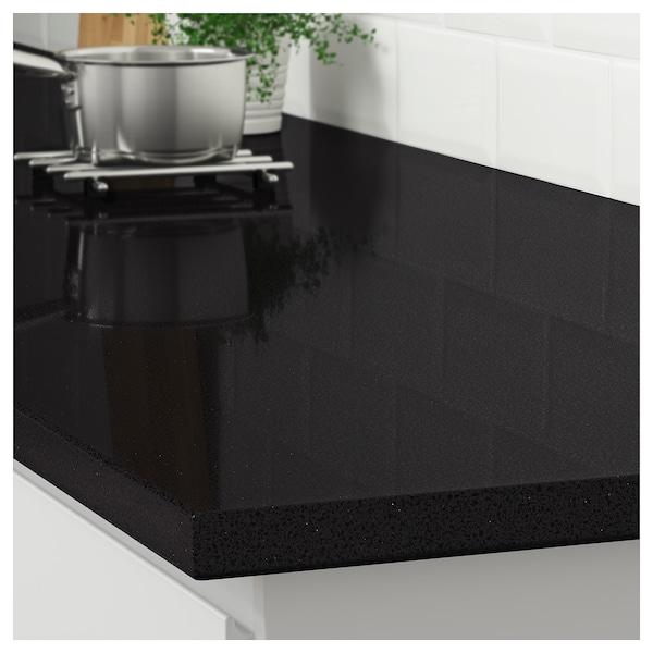 black mineral/glitter effect