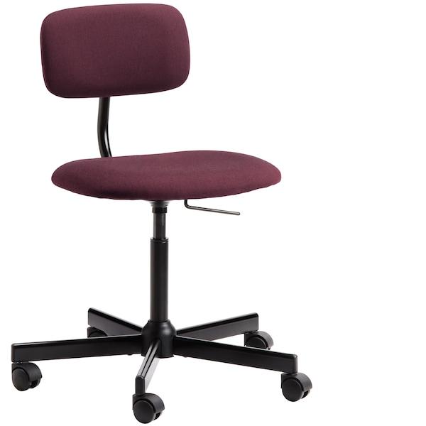 BLECKBERGET Otočná židle, Idekulla tmavě červená.