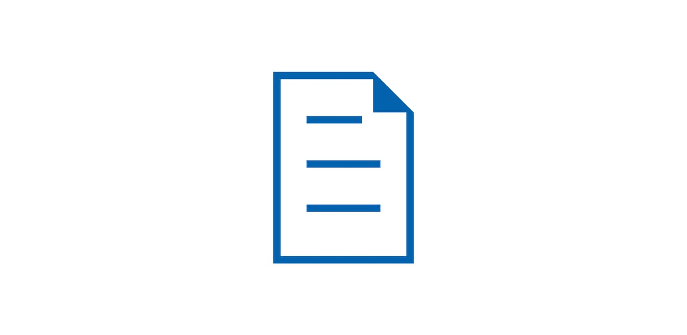 Blue icon of document