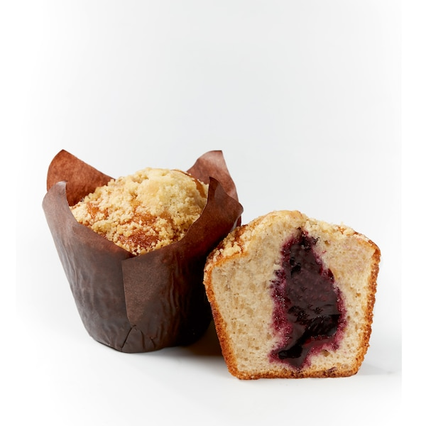 Blueberry crumble muffin