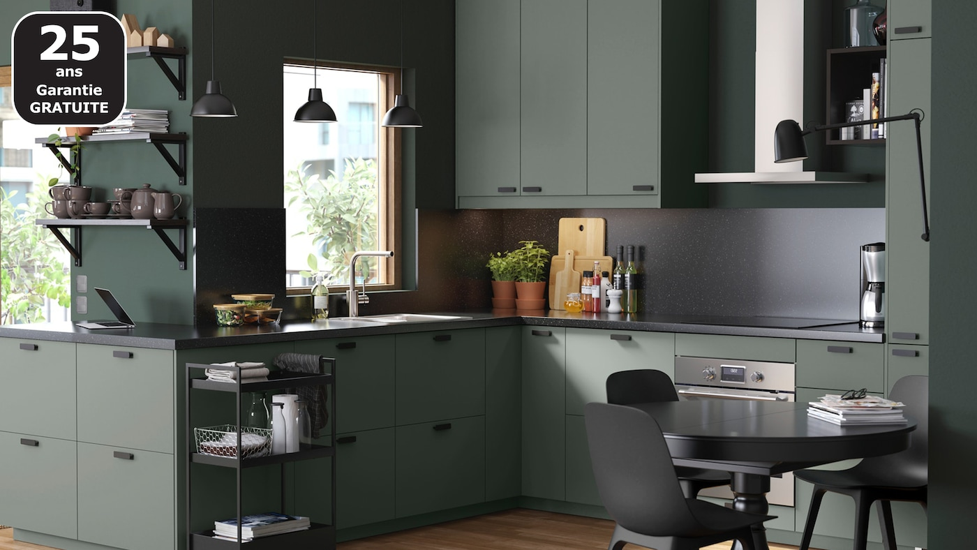 Nettoyer Meuble Cuisine Mat page finitions cuisine bodarp vert - ikea