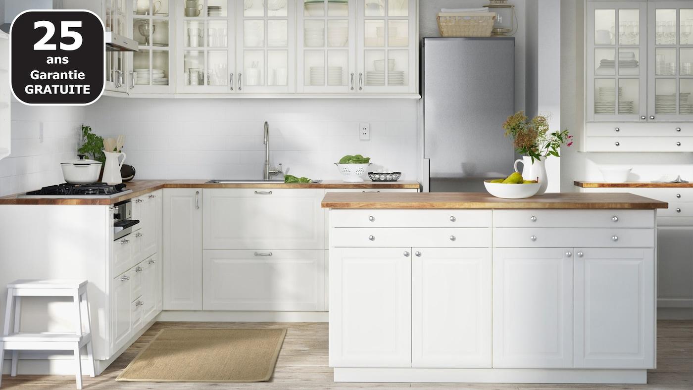 Cuisine Ikea Ouverte Sur Salon page finitions cuisine bodbyn blanc cassé - ikea