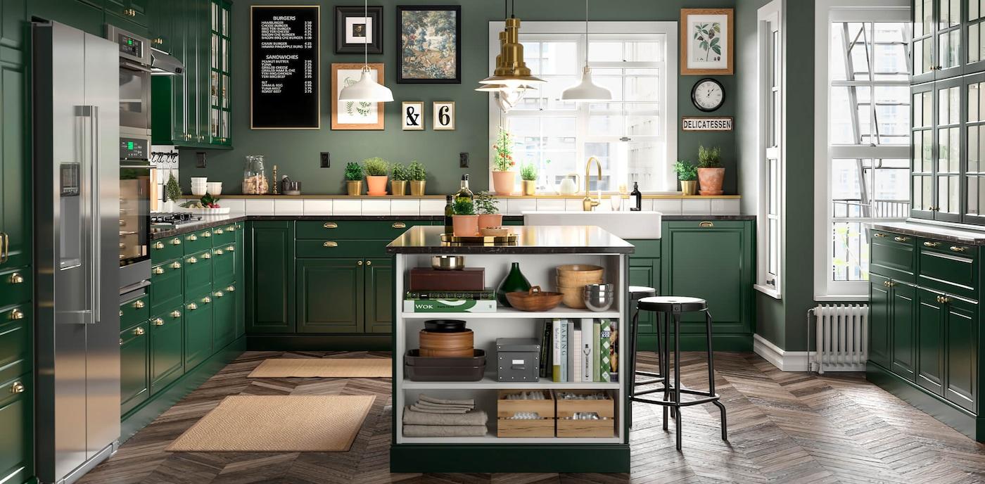 BODBYN green kitchen