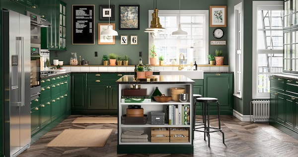 BODBYN green with a touch of sophisticated color to your kitchen.