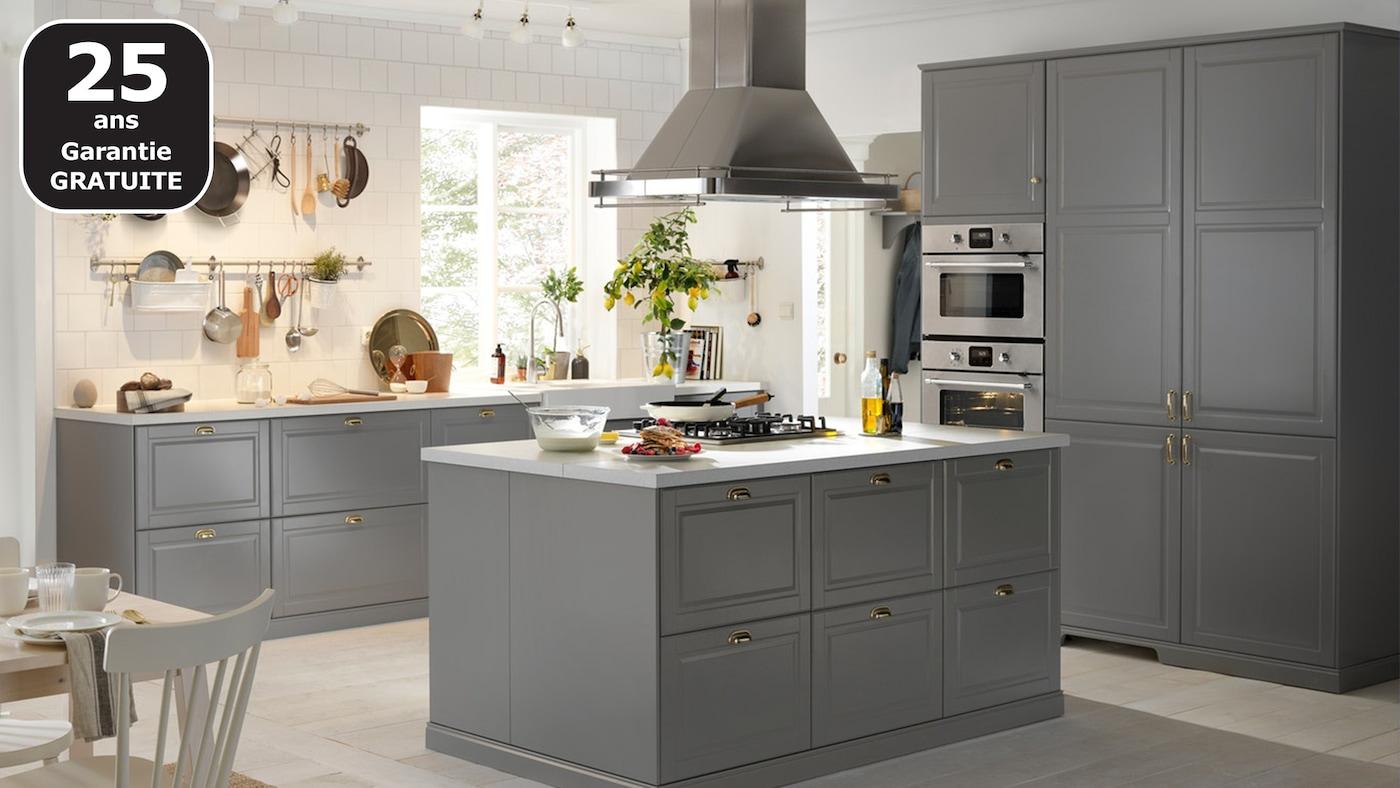 Poignée De Cuisine Ikea page finitions cuisine bodbyn gris - ikea