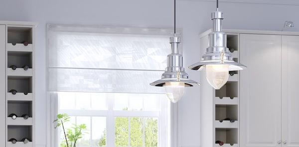 BODBYN white kitchen lighting