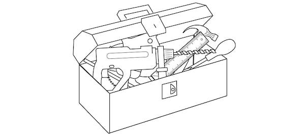 Boîte à outils pour installation d'une cuisine
