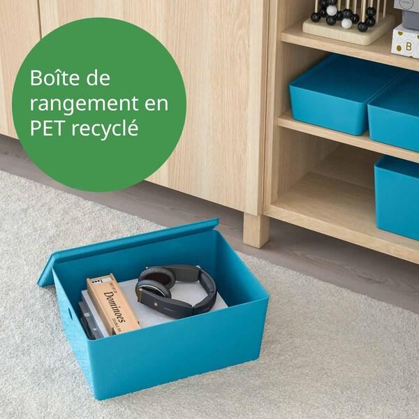 boite de rangement KUGGIS en plastique PET recylclé
