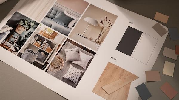 Book et møte med en interiørdesigner.