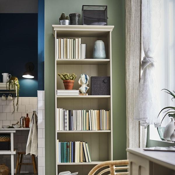 "Bookcase, light beige, 25 5/8x78 3/8 "" (65x199 cm)"