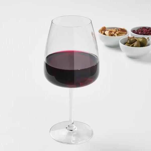 Бордоский бокал классической формы: достаточно высокий бокал на тонкой ножке для полноты раскрытия букета и аромат вина