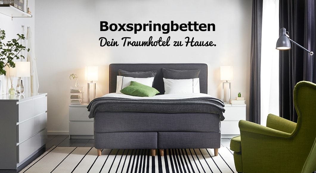 boxspringbett online kaufen ikea. Black Bedroom Furniture Sets. Home Design Ideas