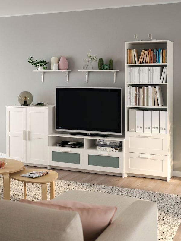BRIMNES/BURHULT TV stor comb 258x41x190 white
