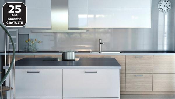 BROKHULT motif noyer cuisine IKEA