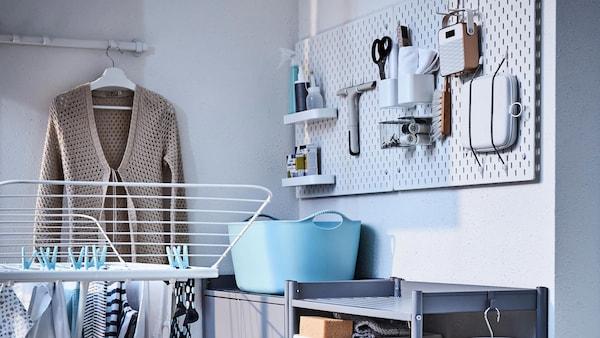 Buanderie Rangements Séchoirs Planche à Repasser Ikea