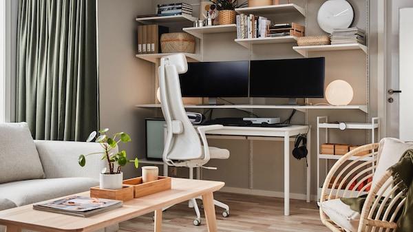 bureau-chaise-beige