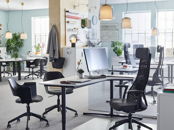 Business Office with desks and chairs