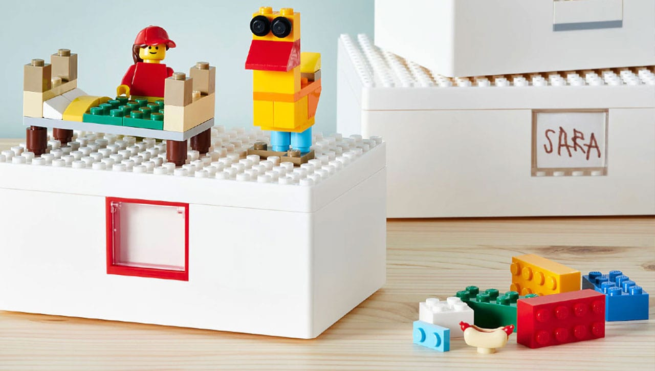 BYGGLEK collaboration collection between IKEA y Lego.