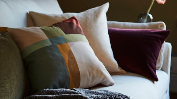 Tips on refreshing your home with new cushions and cushion covers.