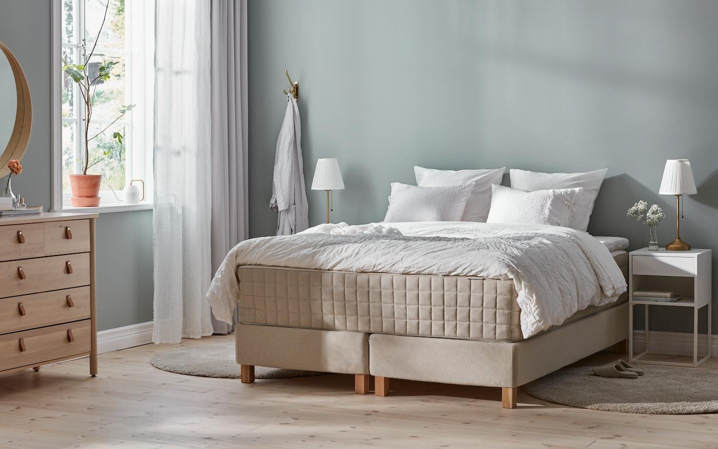 Cabecero cama con cortina GRÅTISTEL