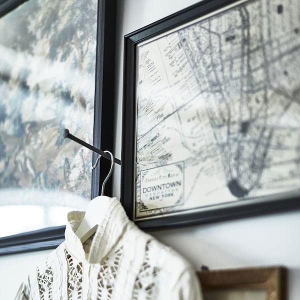 cadre-noir-30x40-knoppang-affiche-plan-ville