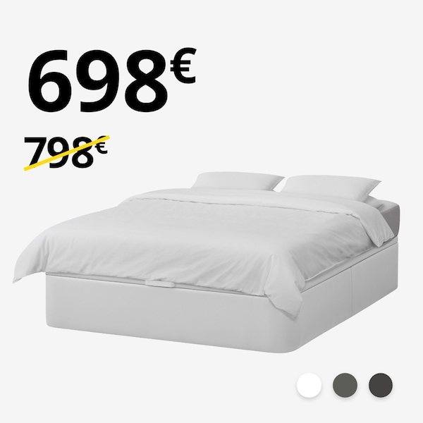 Canapé KVINLOG + colchón HYLLESTAD (150-160cm)