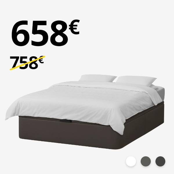 Canapé KVINLOG + colchón MYRBACKA (135-140cm)
