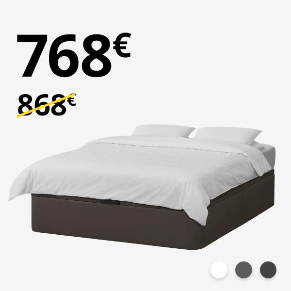Canapé KVINLOG + colchón MYRBACKA (150-160cm)
