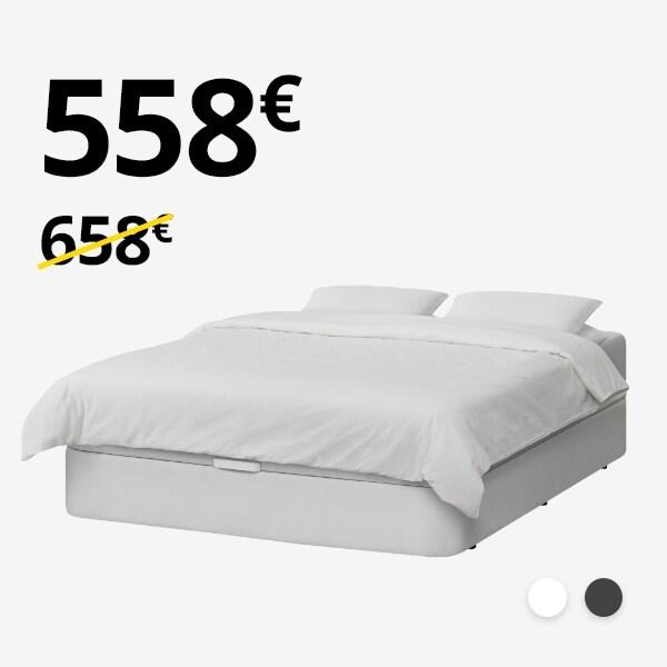 Canapé KVITSÖY + colchón HÖVAG (150-160cm)