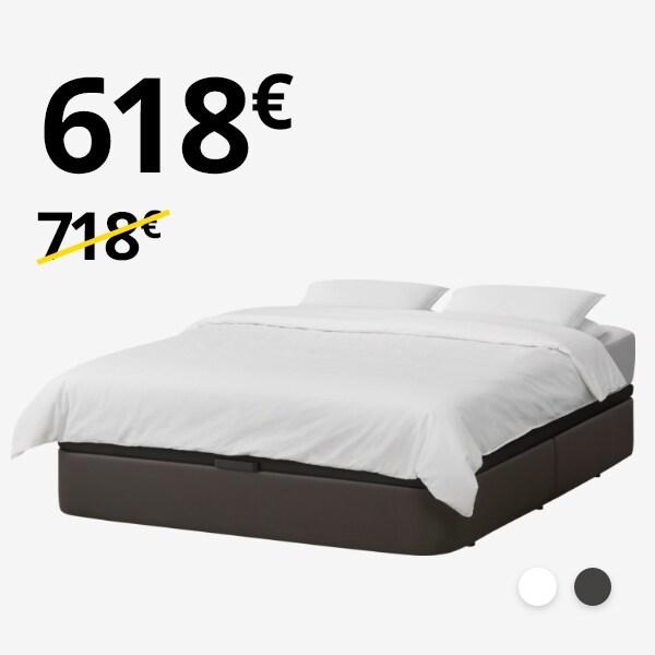 Canapé KVITSÖY + colchón MATRAND (150-160cm)