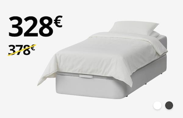 Canapé KVITSÖY + Colchón MATRAND (90cm)