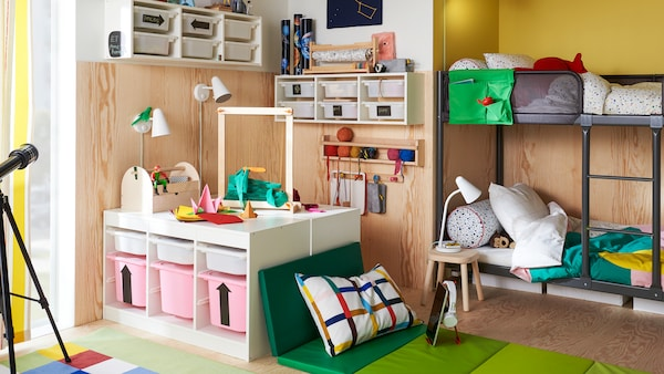 Tips about storage for your kids' stuff that they will use, too.