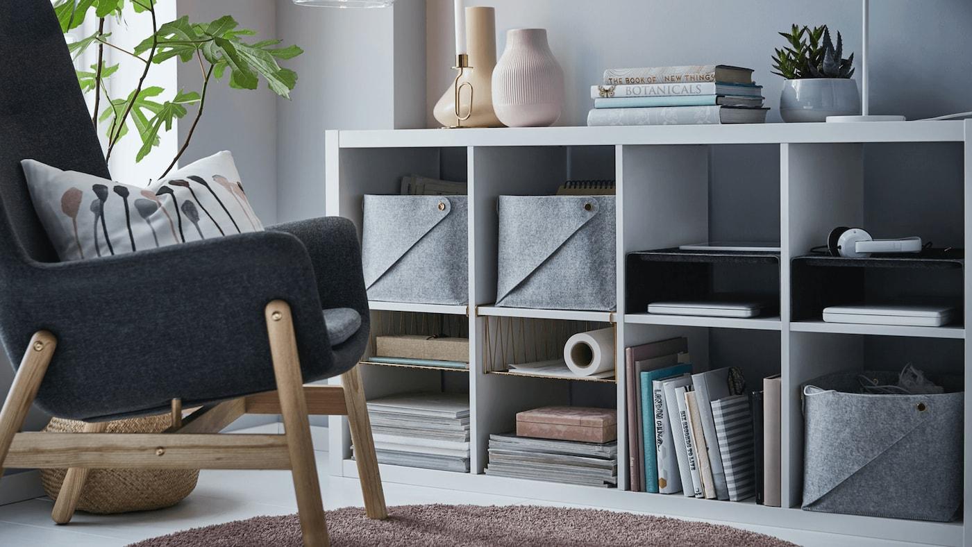 IKEA KALLAX living room storage