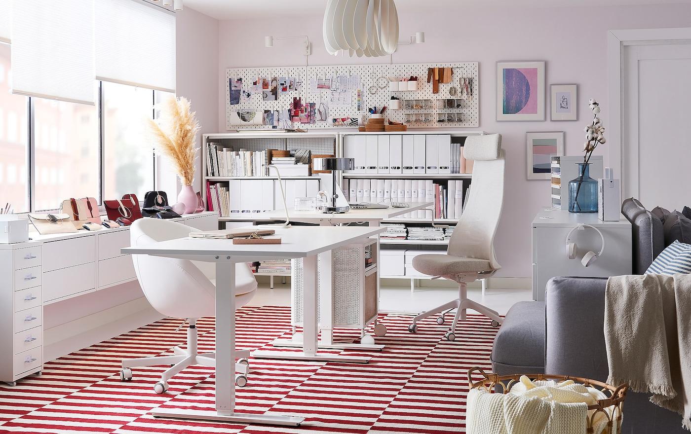 bureau domicile pour travailleur acharn ikea. Black Bedroom Furniture Sets. Home Design Ideas