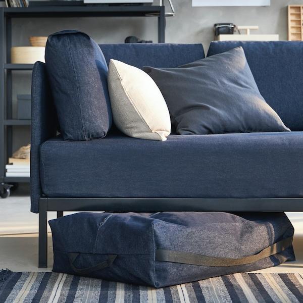 Cesta de almacenaje para el sofá