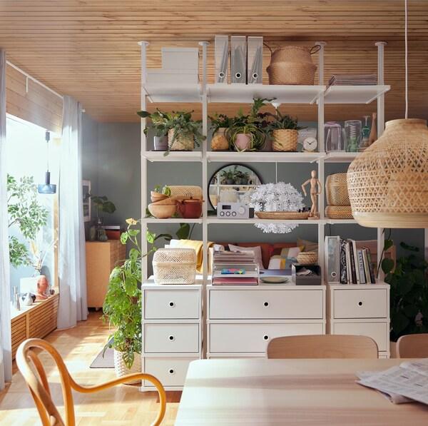 cestas y cajas para ordenar estanterías
