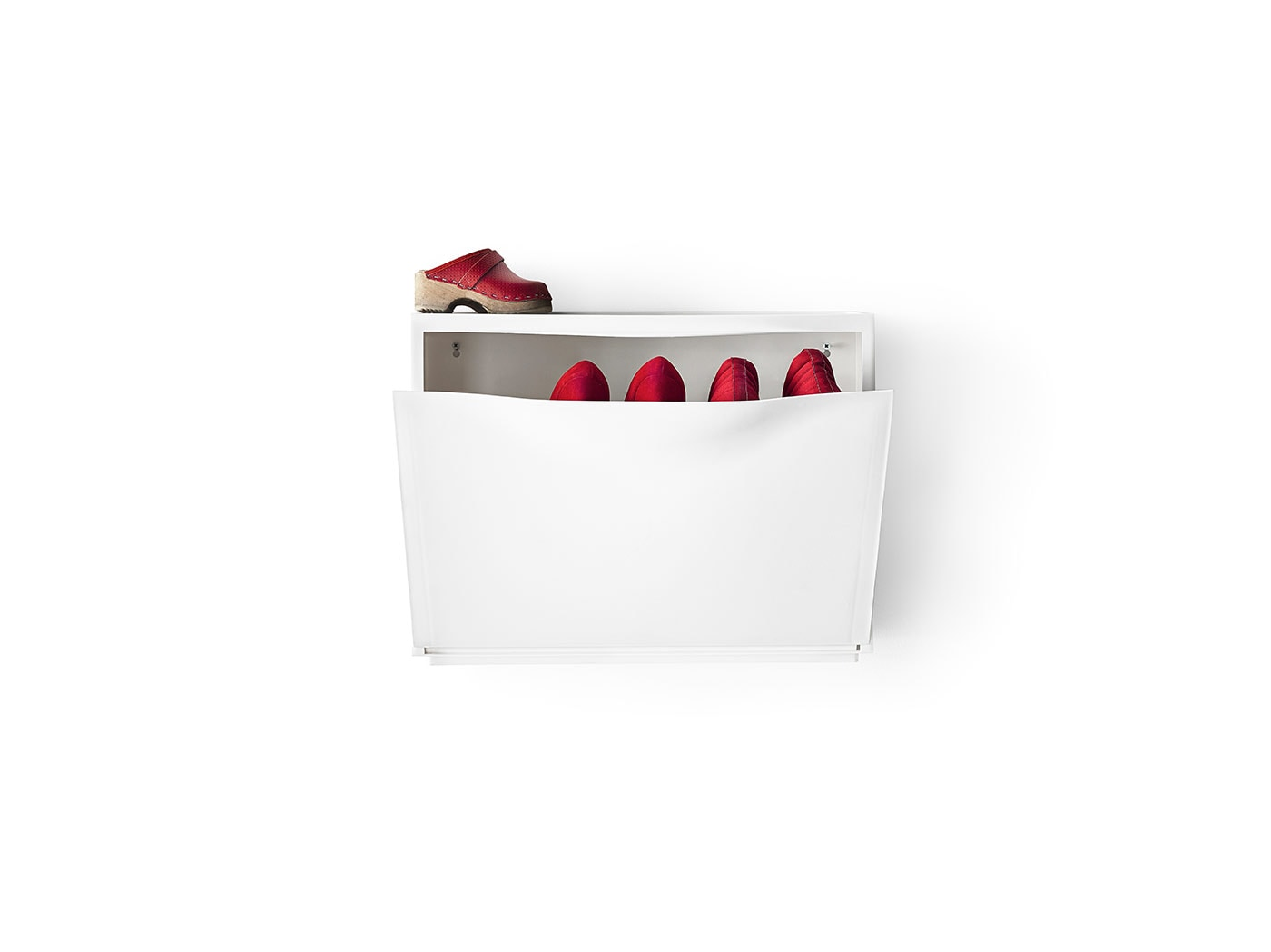 Shoe cabinets.