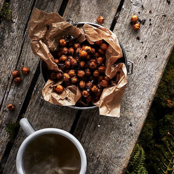 Chai and chilli toasted chickpeas.