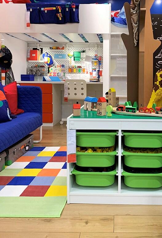 Chambre d'enfant multicolore