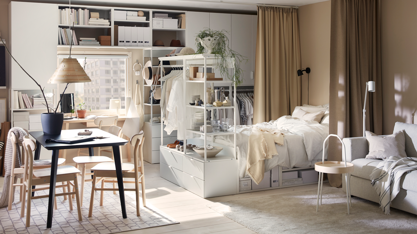 Chambre Ouverte Salle De Bain meuble chambre à coucher adulte - décoration chambre - ikea