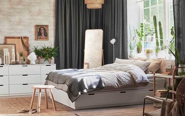Chambre NORDLI blanche chez IKEA