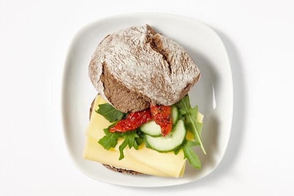 Cheese and rocket sandwich IKEA Restaurant