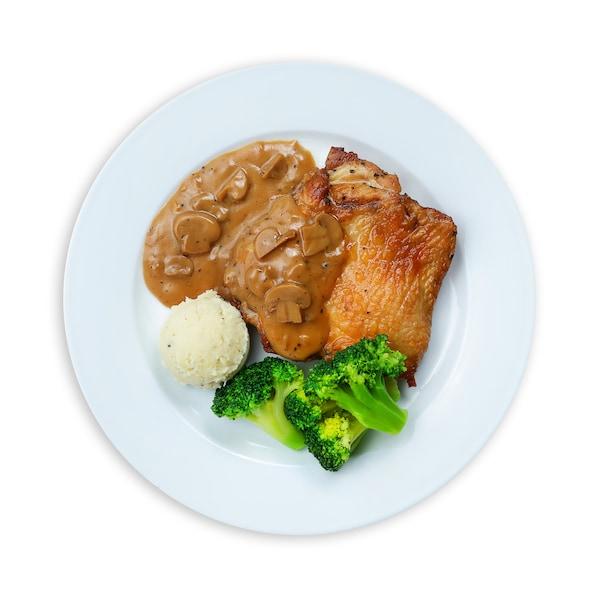 Chicken Chop with Mushroom Sauce