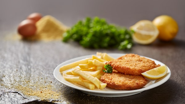 Chicken schnitzel and fries IKEA Restaurant