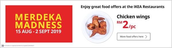 Chicken wings offer 15 August - 2 September 2019
